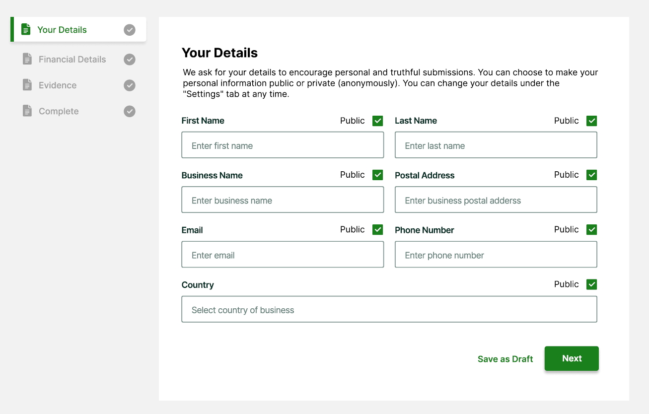 Reporting late invoices - adding your details