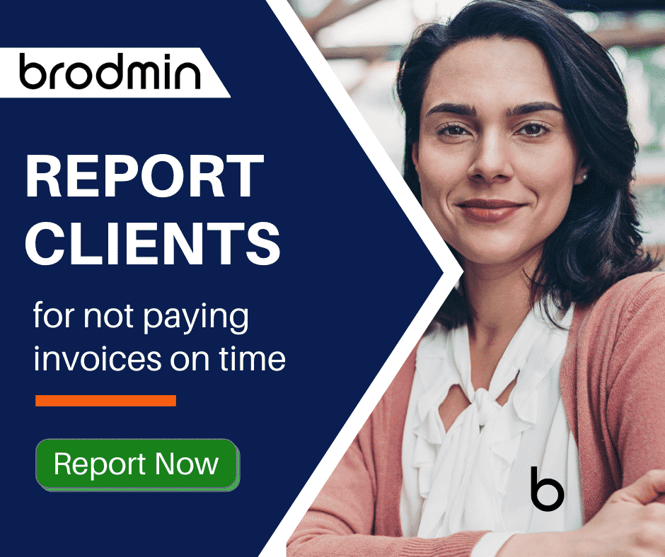 FB - Report clients for not paying invoices on time