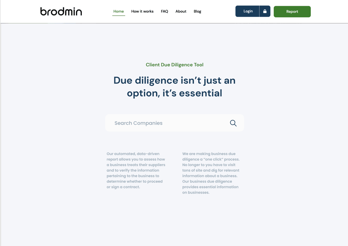 Due Diligence Search